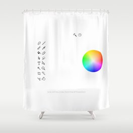 Art Interface - Hand Drawn Shower Curtain