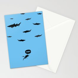 WTF? Tiburones! Stationery Cards
