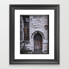 Lincoln Cathedral Refectory Door Framed Art Print