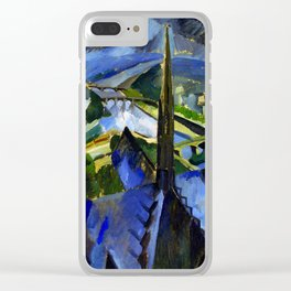 "Robert Delaunay ""The Spire of Notre Dame""(1909-1910) Clear iPhone Case"