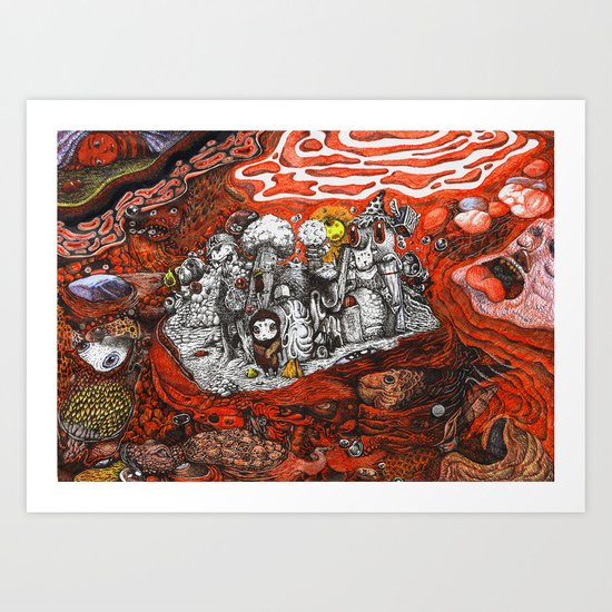 Islands in Red Sea Art Print