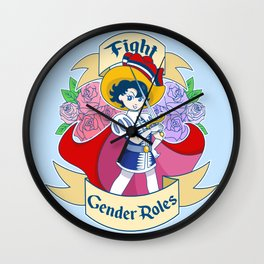 Princess Knight (Blue) Wall Clock