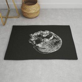 Human Skull Vintage Illustration  Rug