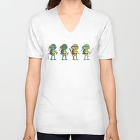 ninja turtles V-neck T-shirts featuring Teenage Mutant Ninja Turtles by Glimy