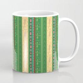 african ethnic green and yellow pattern Coffee Mug
