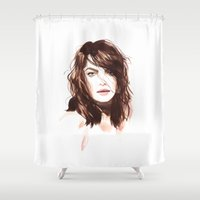 bambi Shower Curtains featuring Bambi by Esther Kang