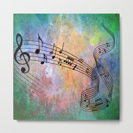 Abstract MUSIC Metal Print