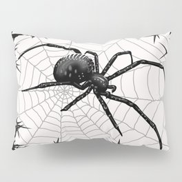 Briar Web- Black and White Pillow Sham