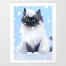 Waiting for the first snow Art Print