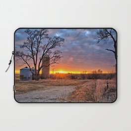 Grain Bin Sunset 3 Laptop Sleeve