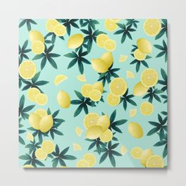 Lemon Twist Vibes #1 #tropical #fruit #decor #art #society6 Metal Print