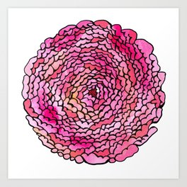 A many (many, many) petaled flower Art Print