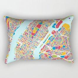 New York City Street Map Rectangular Pillow
