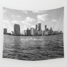 I'm in Miami - Black and white Wall Tapestry