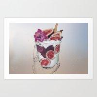 Colorful Fruit Cup Art Print