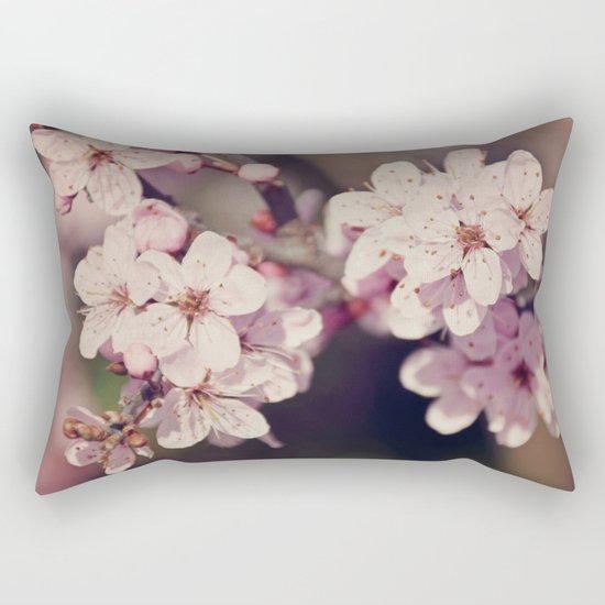 Rose Cherry Blossom Rectangular Pillow