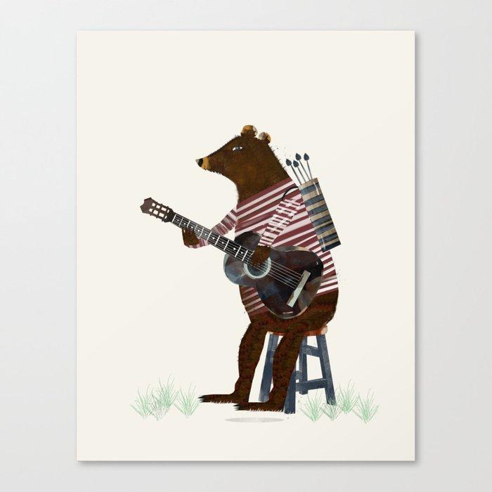 guitar song Canvas Print