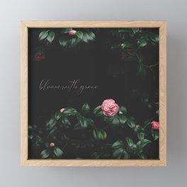 bloom with grace Framed Mini Art Print