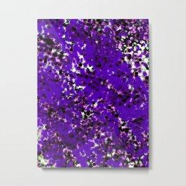 snow dots in black on purple Metal Print
