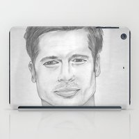 brad pitt iPad Cases featuring Brad Pitt by Feroz Bukht