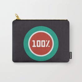 """Print illustration """"percentage - 100%"""" with long shadow in new modern flat design Carry-All Pouch"""