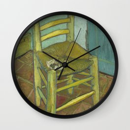 Van Gogh's Chair Wall Clock