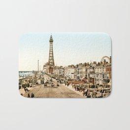 The Promenade at Blackpool, Lancashire, England 1898 Bath Mat
