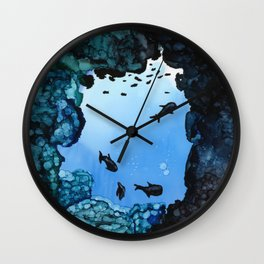 Fish - Alcohol Ink Wall Clock