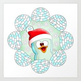 Christmas Cute Penguin Art Print