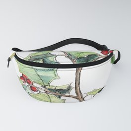 Christmas Holly, Illustration Fanny Pack