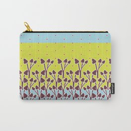Flower Border Carry-All Pouch