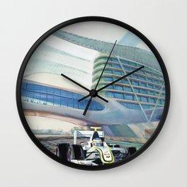 Brawn under Yas Hotel Bridge Wall Clock