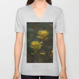 Yellow Blossoms Unisex V-Neck