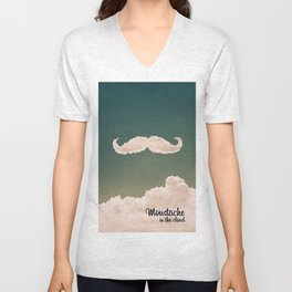 Mustache In the Cloud Unisex V-Neck