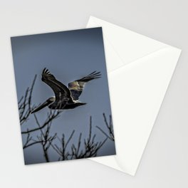 Pelican Breezing Thru The Trees Stationery Cards