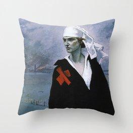 La France Croisee Romaine Brooks Throw Pillow