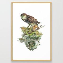Sawtooth Biome Framed Art Print