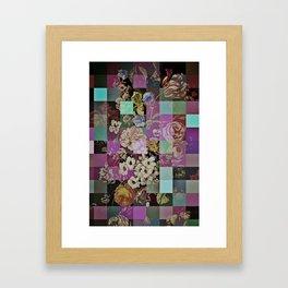 Floral quilt Framed Art Print