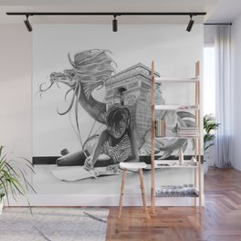 HOW IT BEGINS (featuring the photography of Harvey Lisse w/his daughter Chontelle) Wall Mural