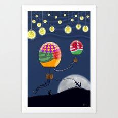 BALLOON NIGHT Art Print