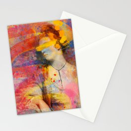 Classical Joshua Reynolds Portrait Pop Art Abstract Remix Stationery Cards