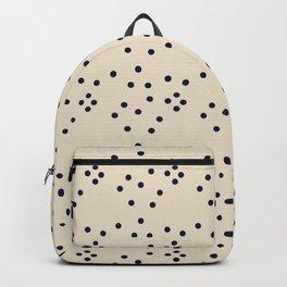 Geometrical black ivory abstract polka dots Backpack