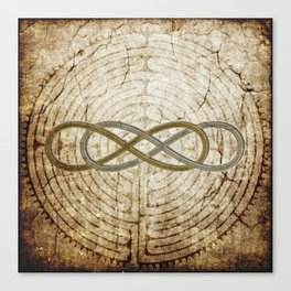 Double Infinity Silver Gold antique Canvas Print