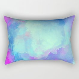 Watercolor abstract art Rectangular Pillow