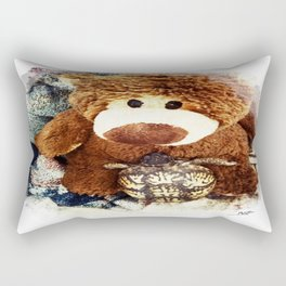 Turtle P. Turtle, Esquire and Buddy Bear Rectangular Pillow