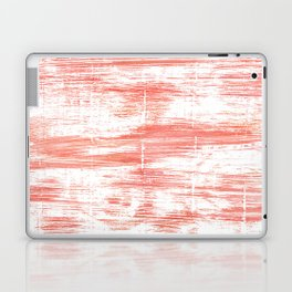 Light salmon pink abstract watercolor Laptop & iPad Skin