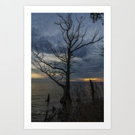 sound side sunset in colington Art Print