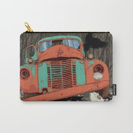 Rusted old truck, wolf skull, raven. Carry-All Pouch