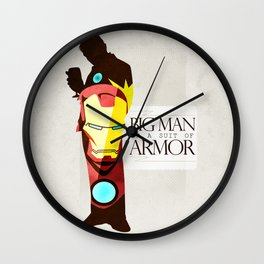 Suit of Armor : Iron Man Wall Clock