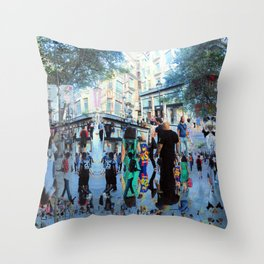 Summer space, smelting selves, simmer shimmers. 20 Throw Pillow